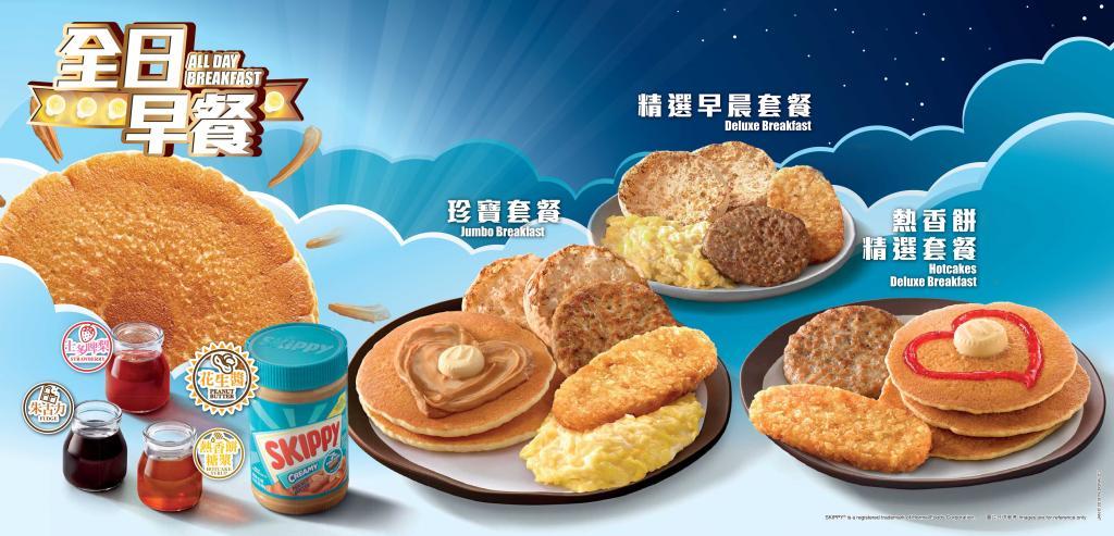 麥當勞1月1日全日供應  Skippy花生醬熱香餅再度登場