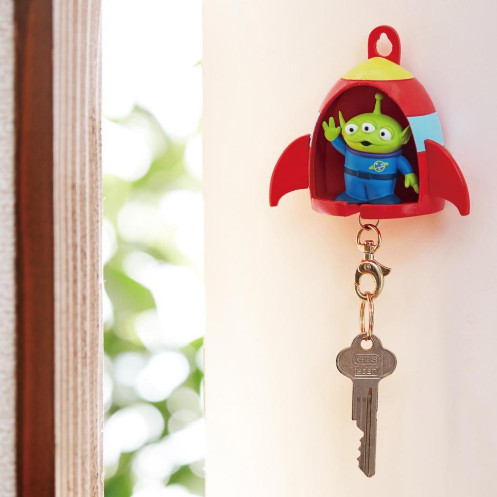 三眼仔/小熊維尼迪士尼鎖匙扣連鎖匙座!掛牆設計好方便