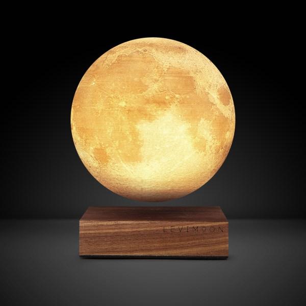 懸浮自轉發光月球燈!自選顏色/亮度/轉動速度