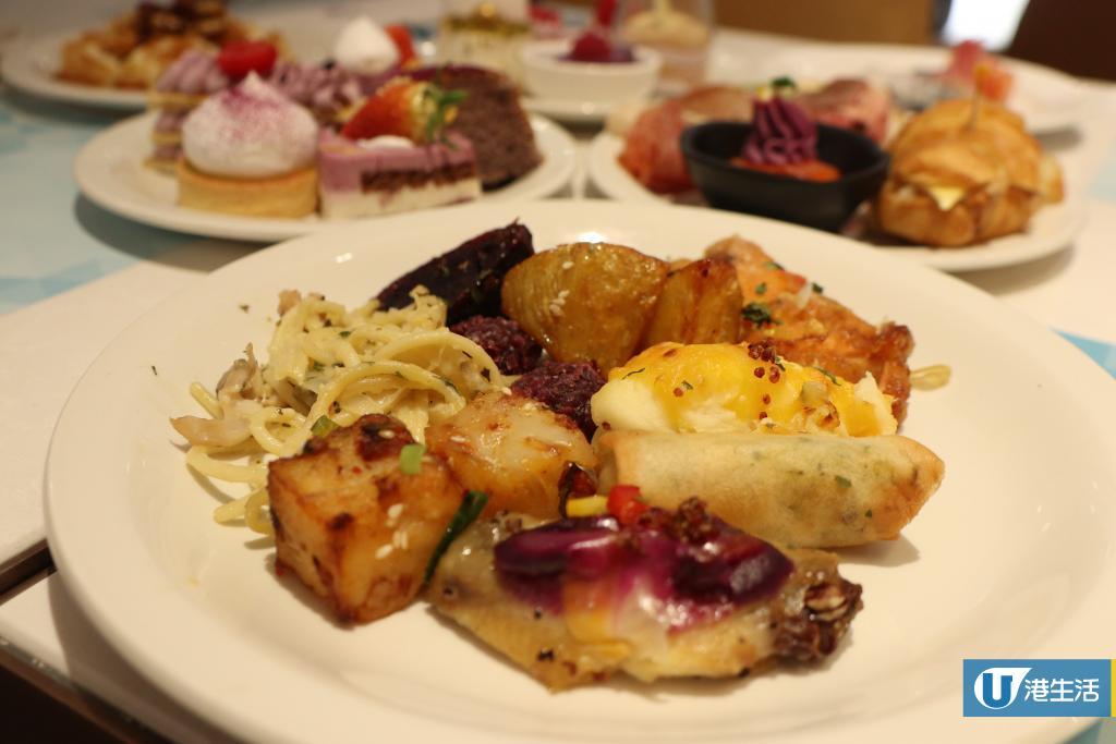 尖沙咀酒店紫薯藜麥主題下午茶 $200有找任食多款甜品+海鮮