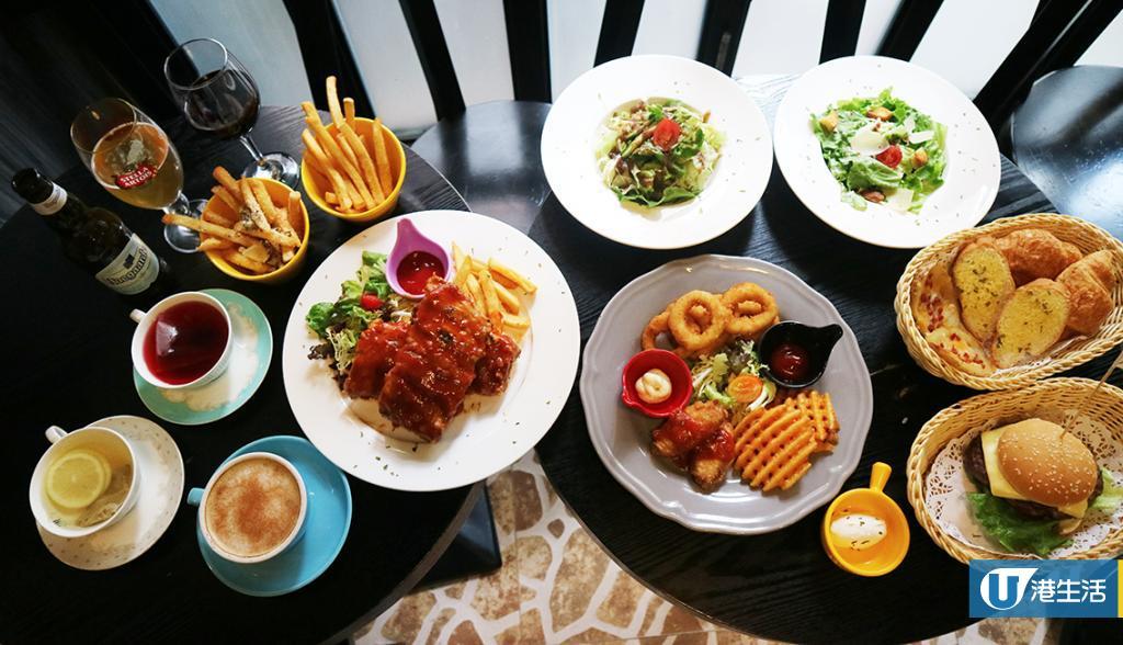 油麻地cafe$78下午茶放題 任食炭燒豬肋骨/黑松露薯條/雞翼
