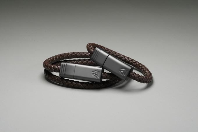 皮製充電線手繩登場!防水/做首飾/快速充電