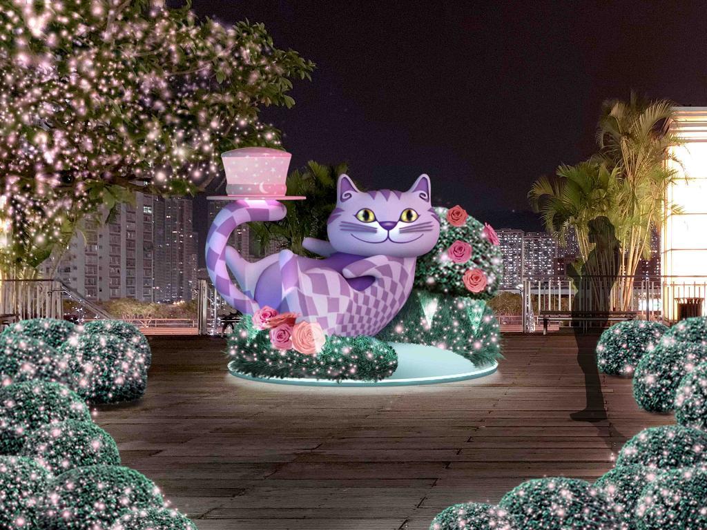 【聖誕節2018】愛麗絲聖誕登陸沙田新城市!30呎高聖誕樹洞/玫瑰燈海/展覽
