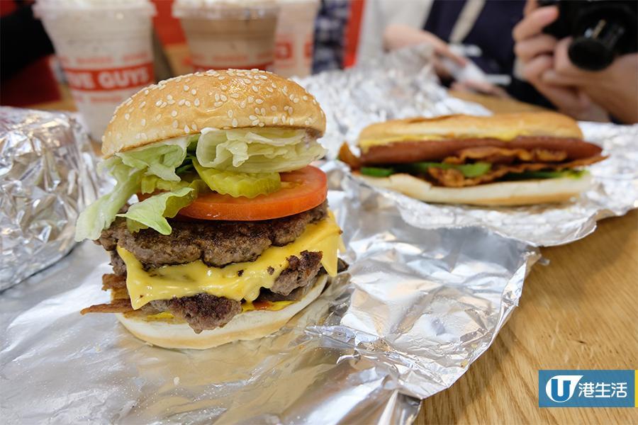 【灣仔美食】漢堡店Five Guys香港開業 地址+開業日期+餐牌定價公佈