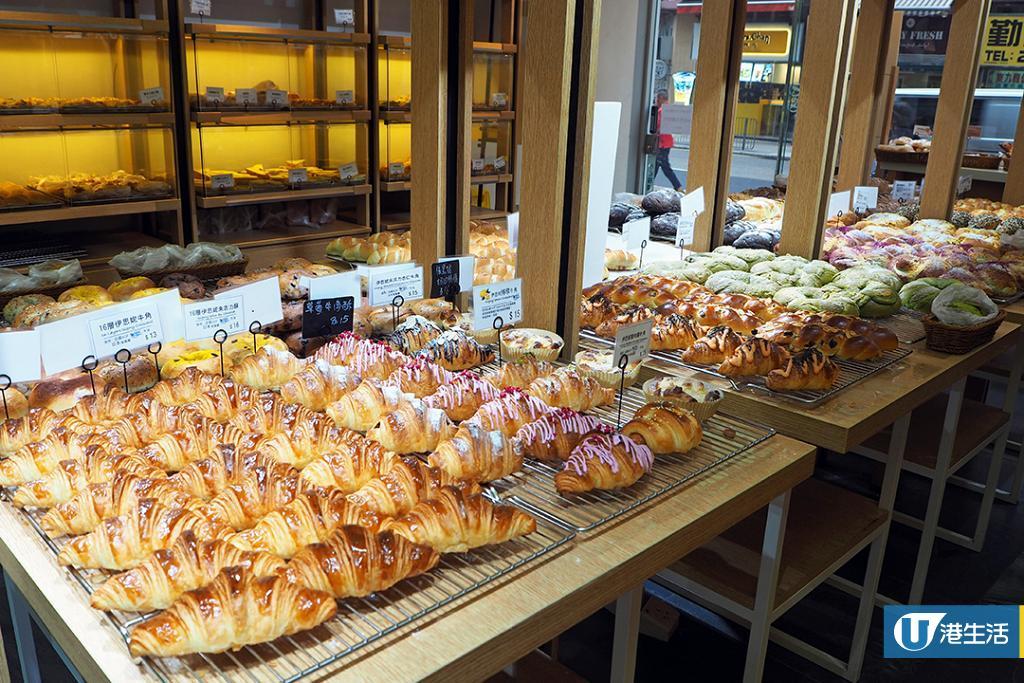 【新蒲崗美食】自設工場手工麵包店 無添加紫薯麻糬包/爆餡流心包/16層牛角包
