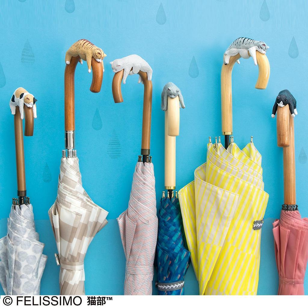 日本Felissimo全新得意貓咪雜貨登場!6款迷你小貓瞓覺造型雨傘柄裝飾