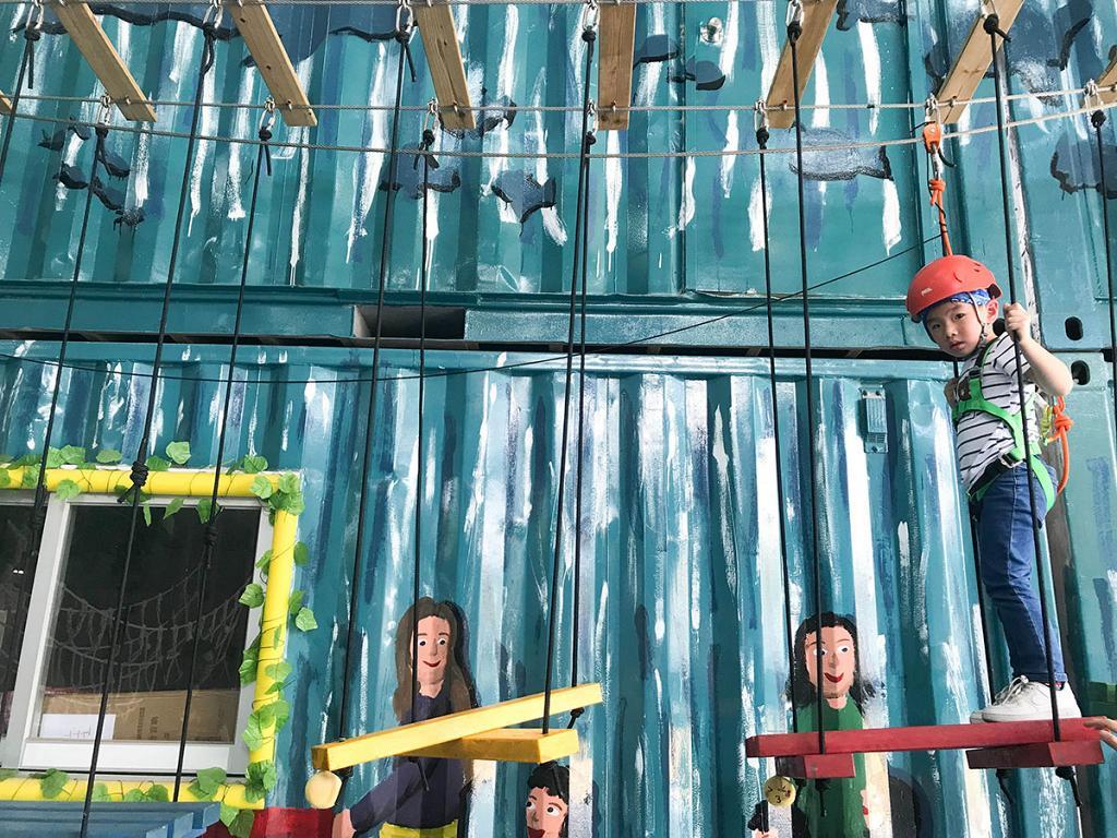 【上水好去處】兒童戶外歷奇農莊 車呔陣/搖搖橋/飛天繩索