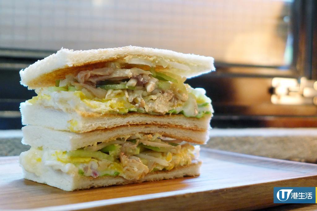 【油麻地美食】油麻地港式吐司早餐店 即製足料手撕雞/超厚蛋配秘製汁吐司