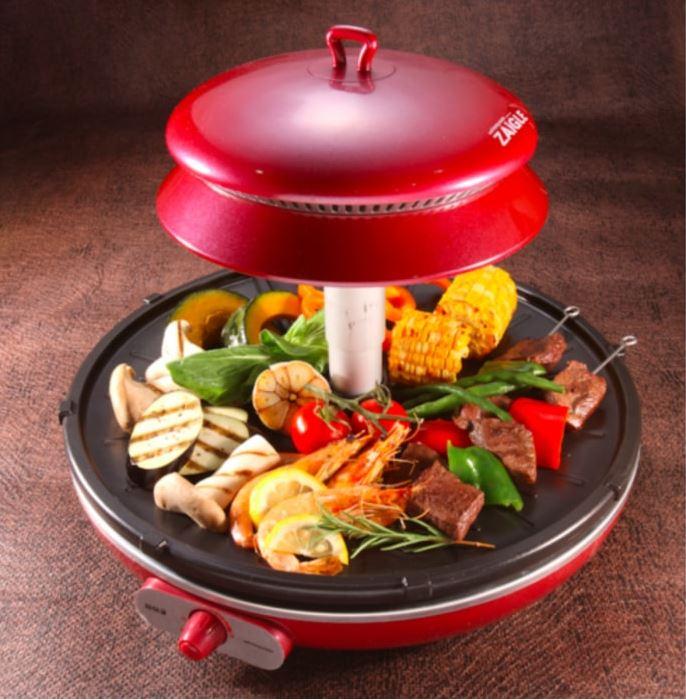 【網購優惠】韓國ZAIGLE少油煙燒烤爐!附食譜 喺屋企燒海鮮/煎魚/燒肉/烤番薯