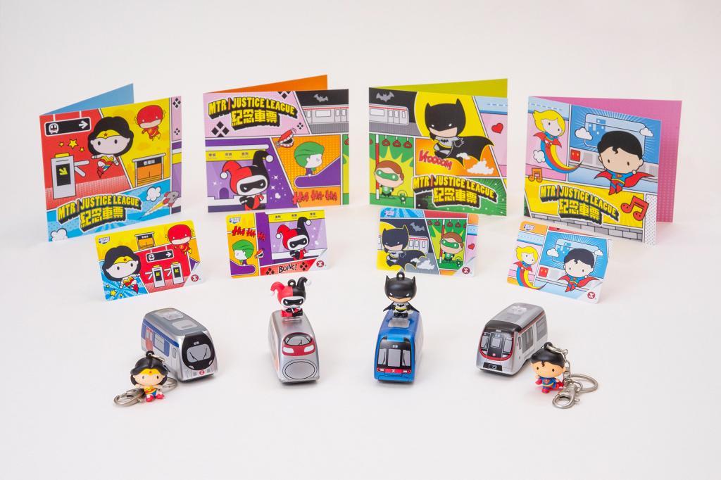 港鐵推出限量紀念車票+回力車 4款經典漫畫人物 神奇女俠/小丑女/蝙蝠俠/超人