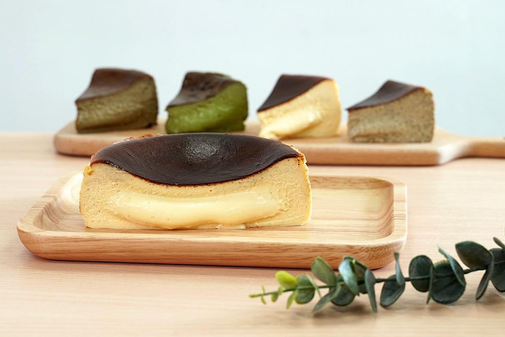 半熟流心巴斯克芝士蛋糕網店推介 軟心雲尼拿/抹茶/焙茶/伯爵茶芝士蛋糕