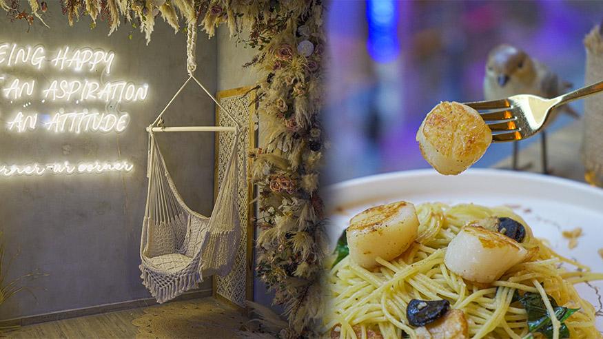 【中環美食】中環新開波希米亞風Cafe 設鞦韆打卡位!燒焦糖芝士蛋糕/慢煮雞胸青醬意粉