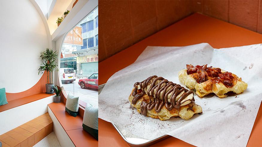 【西環美食】西環清新橙白色澳式Cafe!人氣牛角包窩夫/足料Salad Bowl/牛油果多士/澳洲咖啡