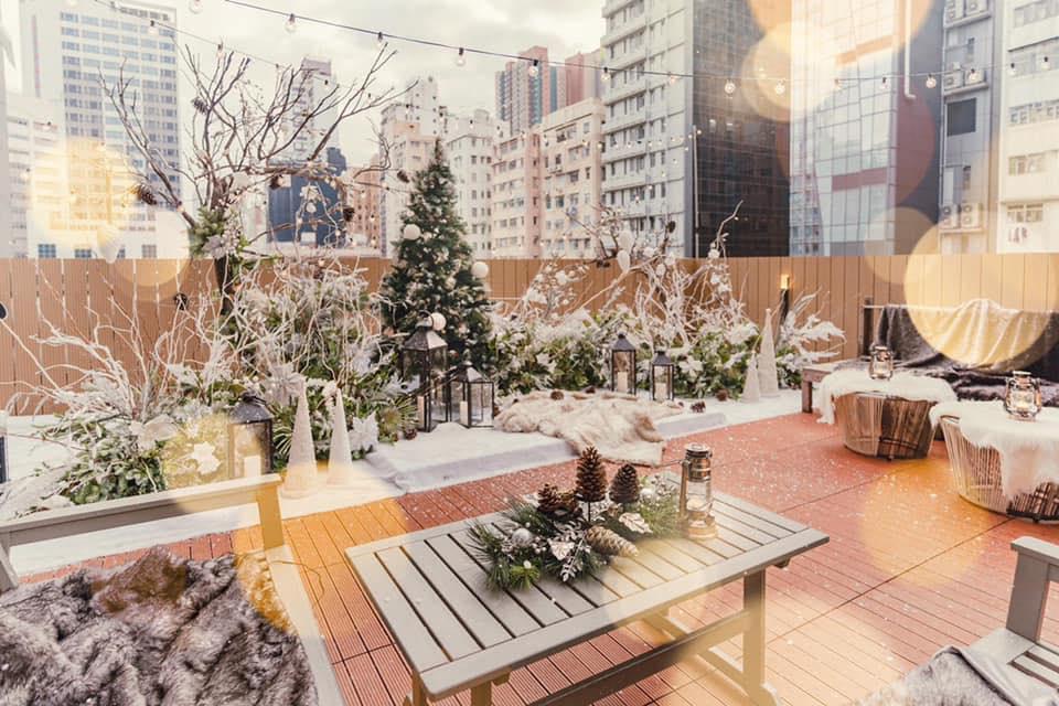 【聖誕下午茶2020】旺角Morokok露天花園化身北歐白色小鎮 鬧市浪漫飄雪歎期間限定聖誕下午茶