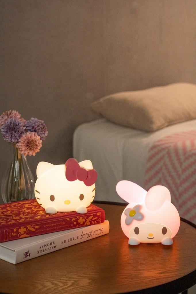 7-Eleven便利店Sanrio LED小夜燈印花換購 Hello Kitty+My Melody大頭造型 聲控/觸控開關