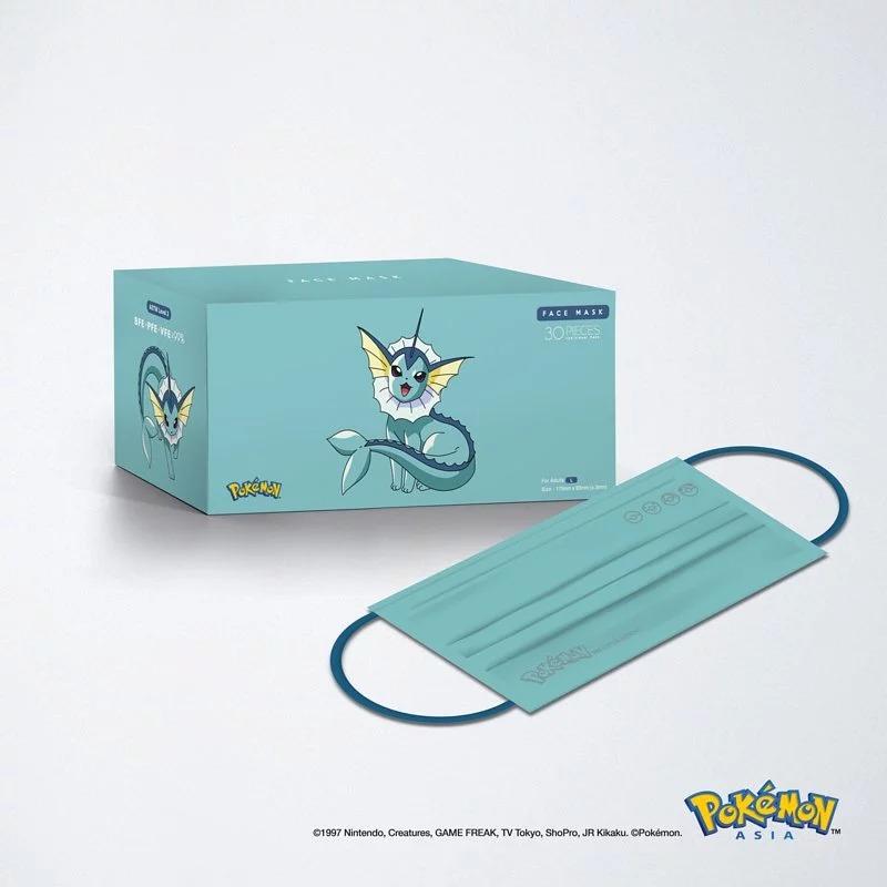 【香港口罩】Pokémon寵物小精靈口罩登場!比卡超、伊貝黃色/湖水綠口罩 (附購買連結)