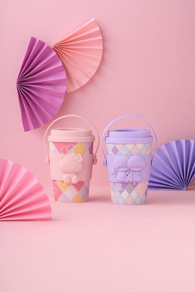 7-Eleven便利店Sanrio隨行杯換領 Hello Kitty/Little Twin Stars立體杯套+掛帶