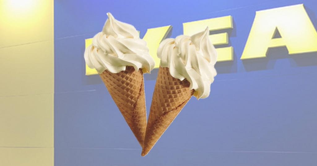 IKEA宜家家居美食站期間限定雪糕 $5全新四季春烏龍茶新地筒!