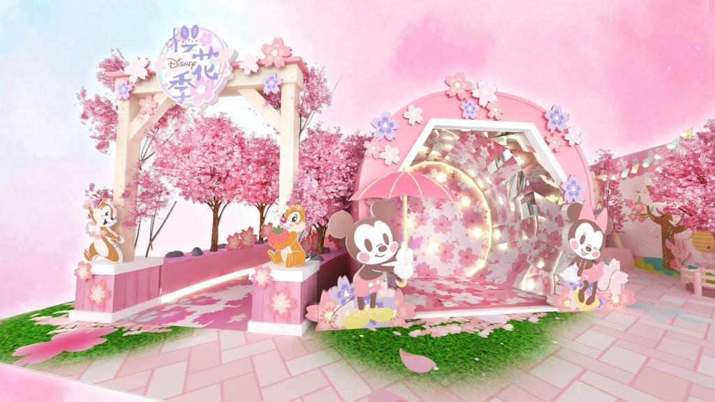 【旺角好去處】迪士尼櫻花季限定店登陸旺角!1.5米高純白小熊維尼/鳥居櫻花路/浴衣體驗