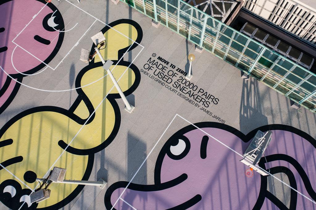 【葵涌好去處】全港首個Nike藝術籃球場登陸石籬商場!聯乘James Jarvis巨型公仔/舊鞋回收計劃