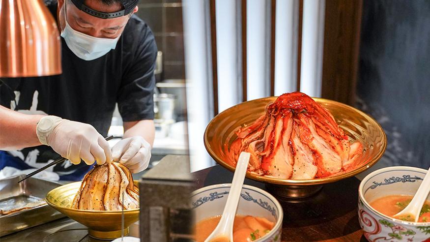 【尖沙咀美食】日本過江龍神山拉麵登陸尖沙咀 新店限定重量級火山豚肉沾汁麵/極濃魚介豚骨沾汁