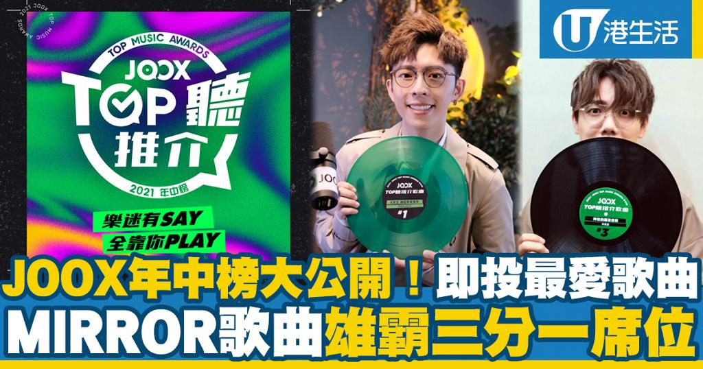 JOOX 2021年中榜完整得獎名單大公開!MIRROR歌曲雄霸三分一席位 全民投票選出樂迷最愛歌曲