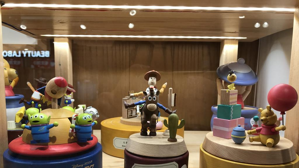 迪士尼木製音樂盒+擺設!三眼仔/tsumtsum/小熊維尼/反斗奇兵