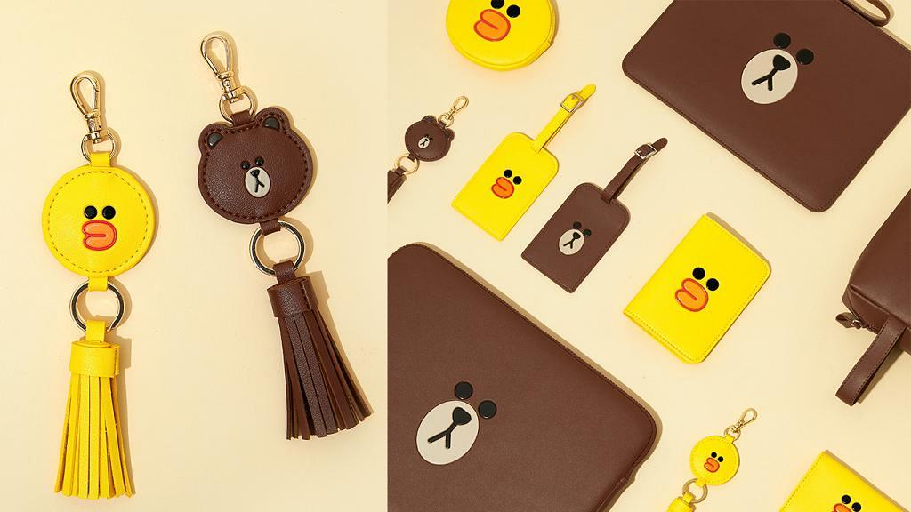 LINE FRIENDS熊大莎莉皮革系列全新登場!鎖匙扣/收納袋/卡片套/散紙包