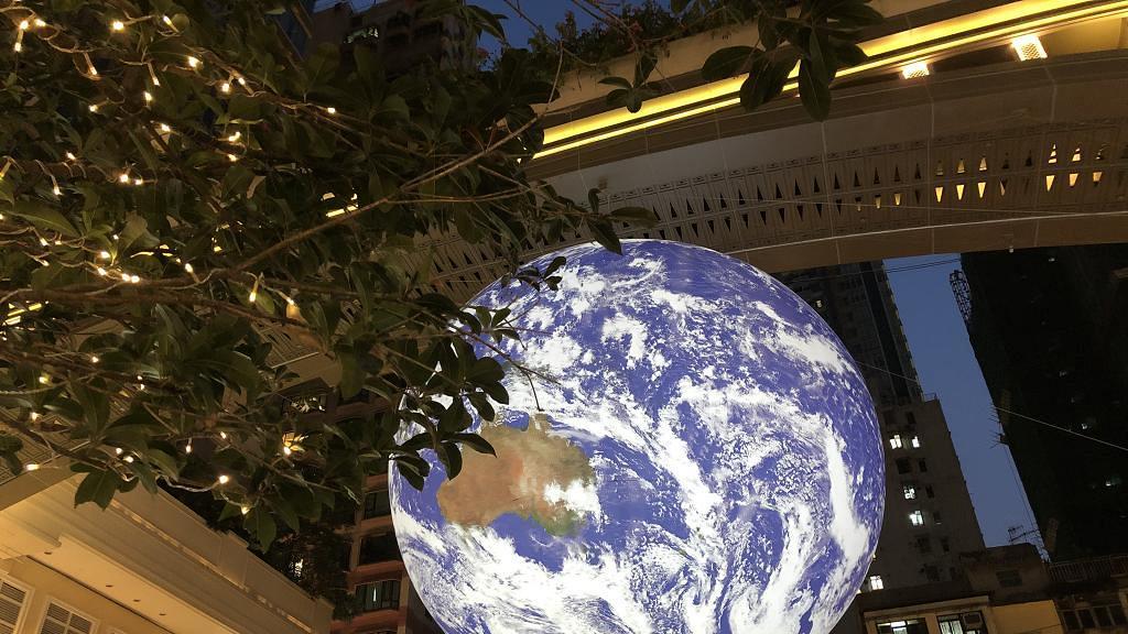 【灣仔好去處】全球首個7米巨型自轉地球登陸灣仔 震撼太空人視角俯瞰地球