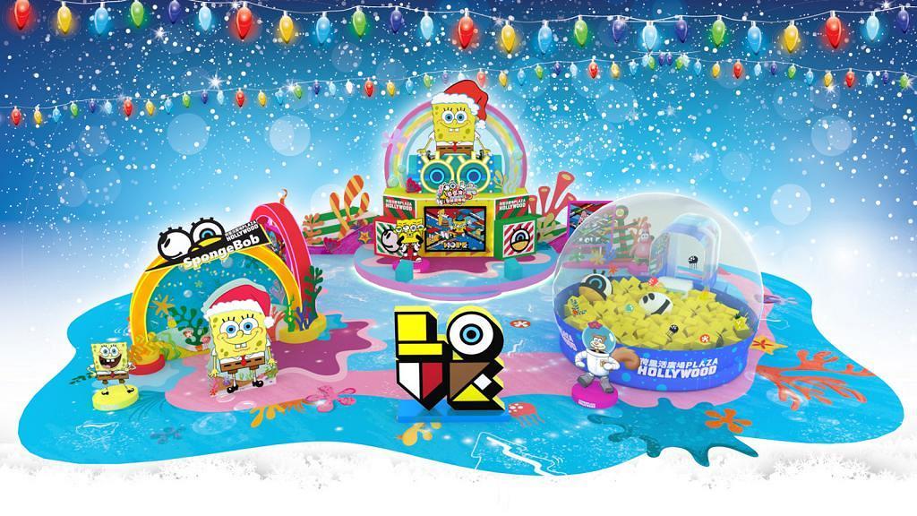 【聖誕好去處2019】海綿寶寶全新聖誕遊樂場!6米高海綿寶寶/5米闊巨型海綿池