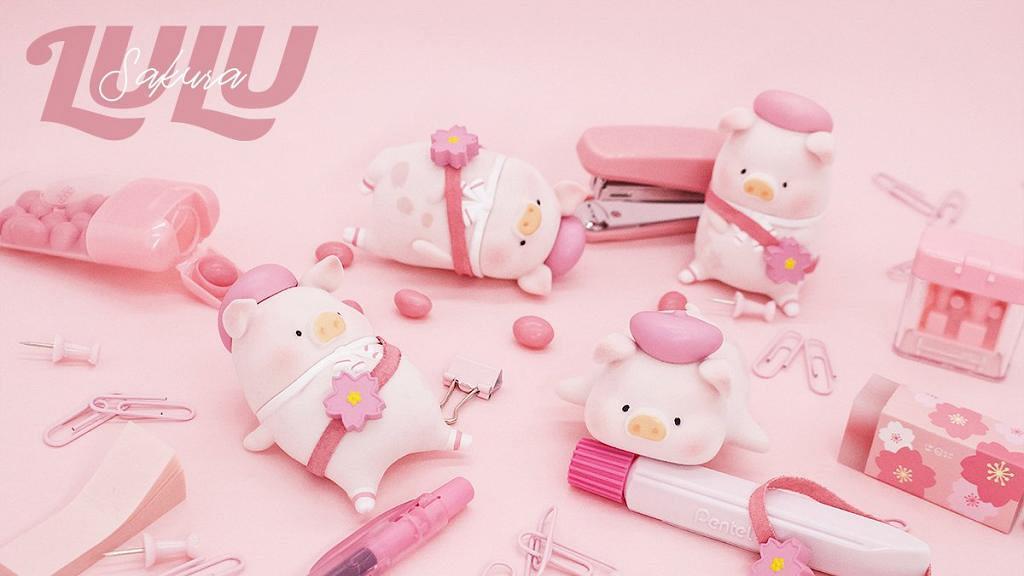 午餐肉罐頭豬Lulu推出櫻花特別版 4月開售!粉紅色畫家帽全新造型登場