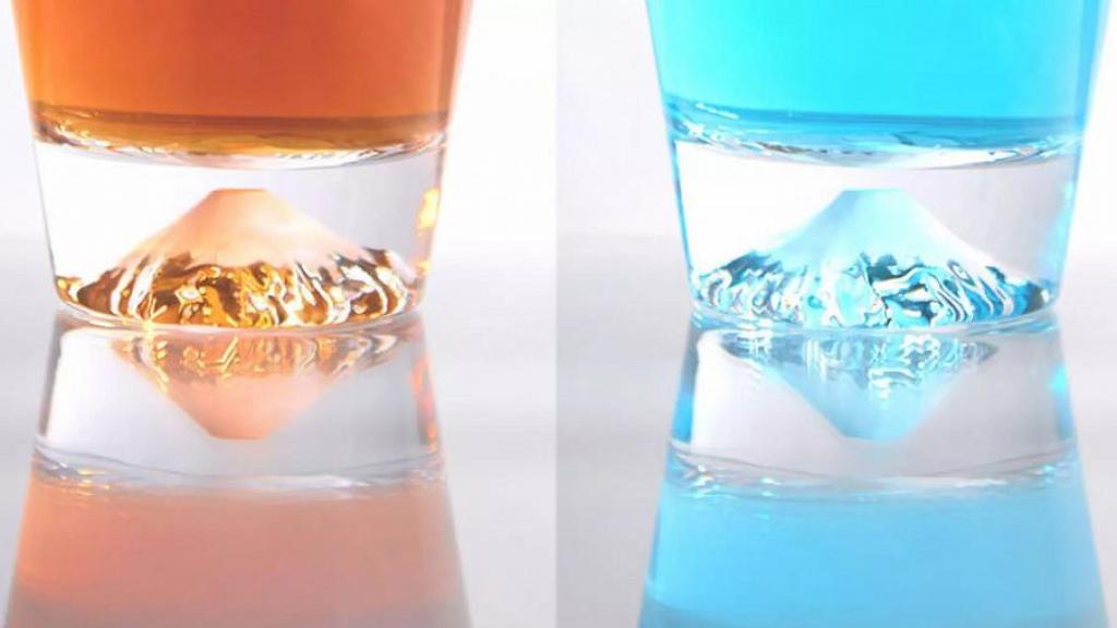 6款超華麗日本櫻花富士山杯登場!純手工製作 玻璃杯映射不同顏色富士山