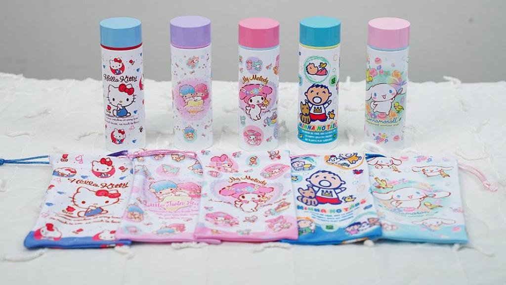 【網購優惠】Sanrio全新推出迷你不銹鋼保溫壼!5款角色水壼+送獨家索繩袋
