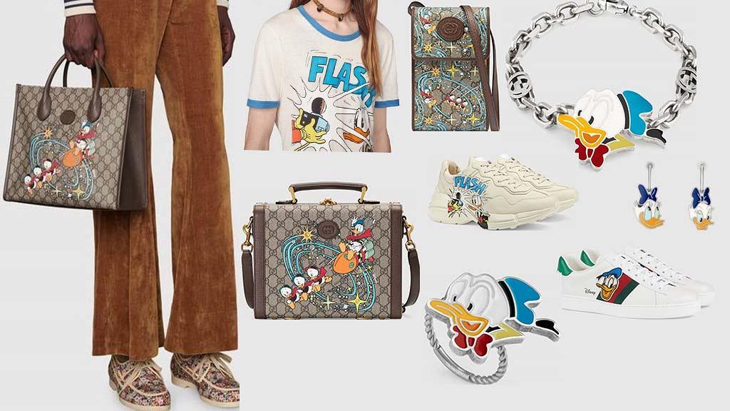 【名牌】Gucci聯乘迪士尼推唐老鴨x黛絲主題新品!精選15款全新迪士尼手袋/首飾/服裝/波鞋