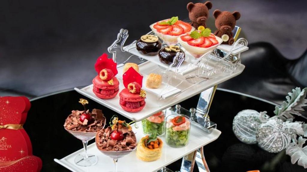 【聖誕下午茶2020】Hotel ICON聖誕主題GODIVA下午茶 過10款甜品鹹點+任食GODIVA黑朱古力軟雪糕