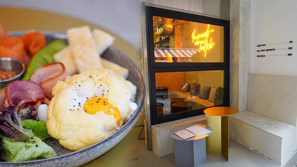 【中環美食】中環新開型格工業風Cafe 霓虹燈打卡位!夢幻雲朵蛋/足料蟹肉扁意粉