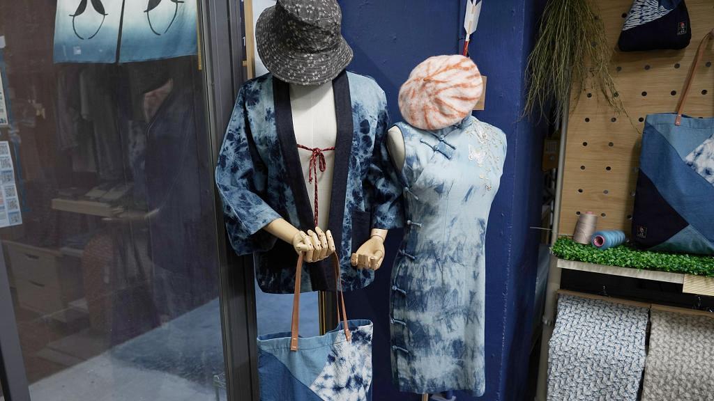 【石峽尾好去處】石峽尾天然藍色紮染DIY體驗 全港最大染缸/30款布材任揀/不同紮染技巧
