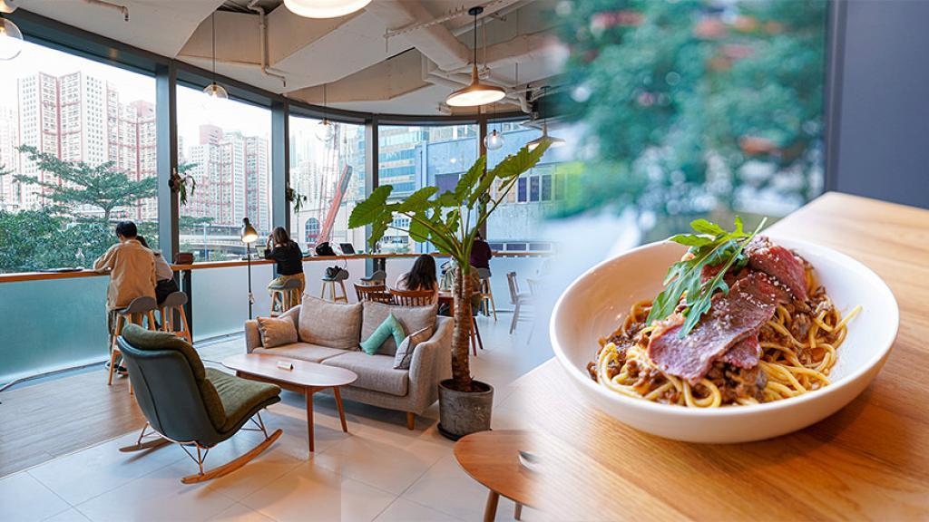 【觀塘美食】觀塘新開8700呎台式咖啡店 無限時任坐!歎燉牛肉意粉/香蕉榛子朱古力窩夫
