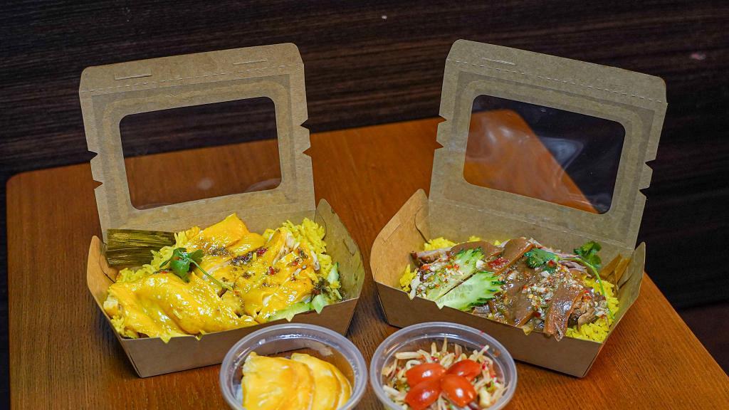 【旺角美食】旺角超抵食$30水門海南雞飯 泰式軟腍豬手飯/$18香甜芒果糯米飯