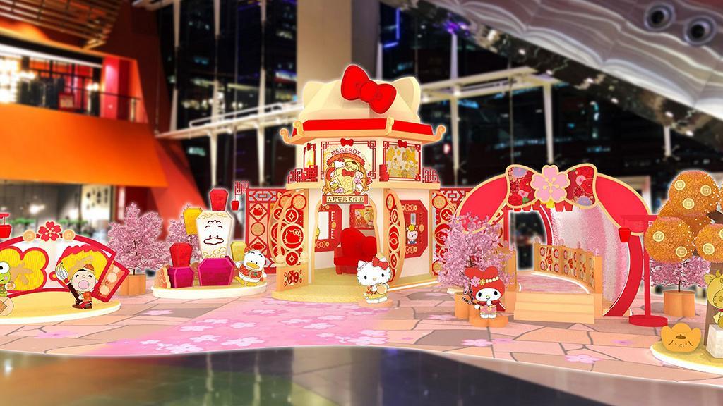 【新年好去處2021】Sanrio天燈園登陸九龍灣MegaBox!布甸狗/My Melody/大口仔/桃花隧道/限定店