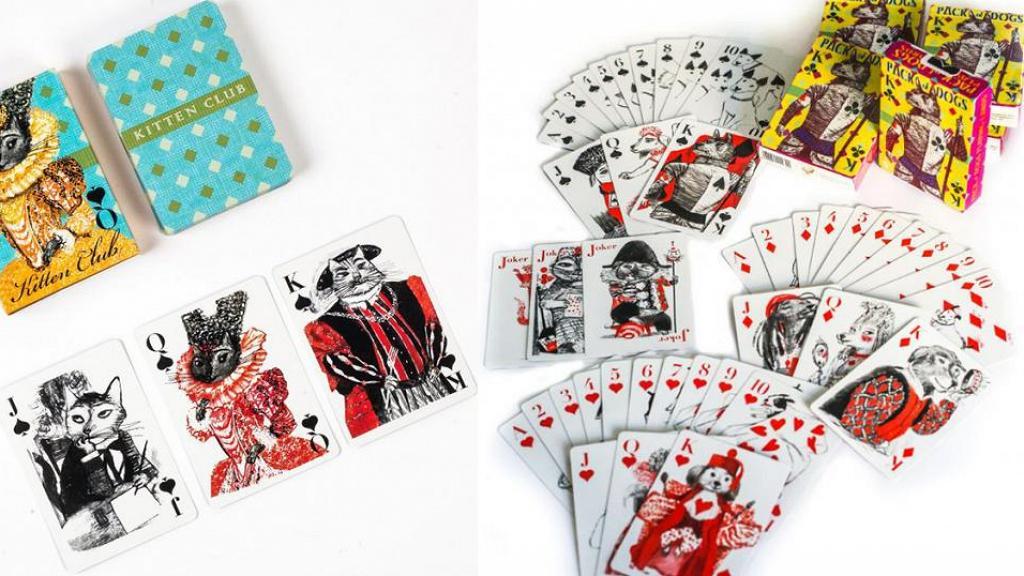 【網購優惠】美國藝術家設計插畫風撲克牌!貴族造型貓咪狗狗啤牌 限時優惠直送香港
