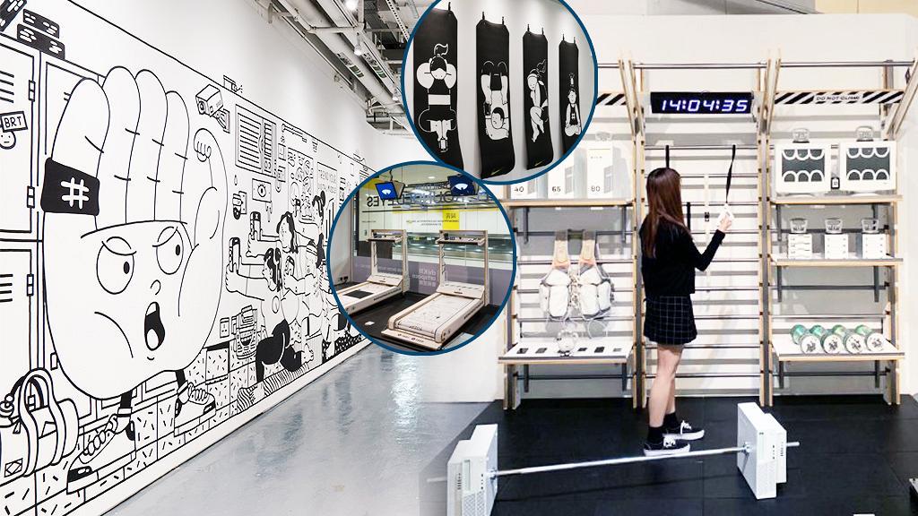 【尖沙咀好去處】黑白插畫藝術體驗店登陸K11!9大影相位/手機族互動健身遊戲/限定店