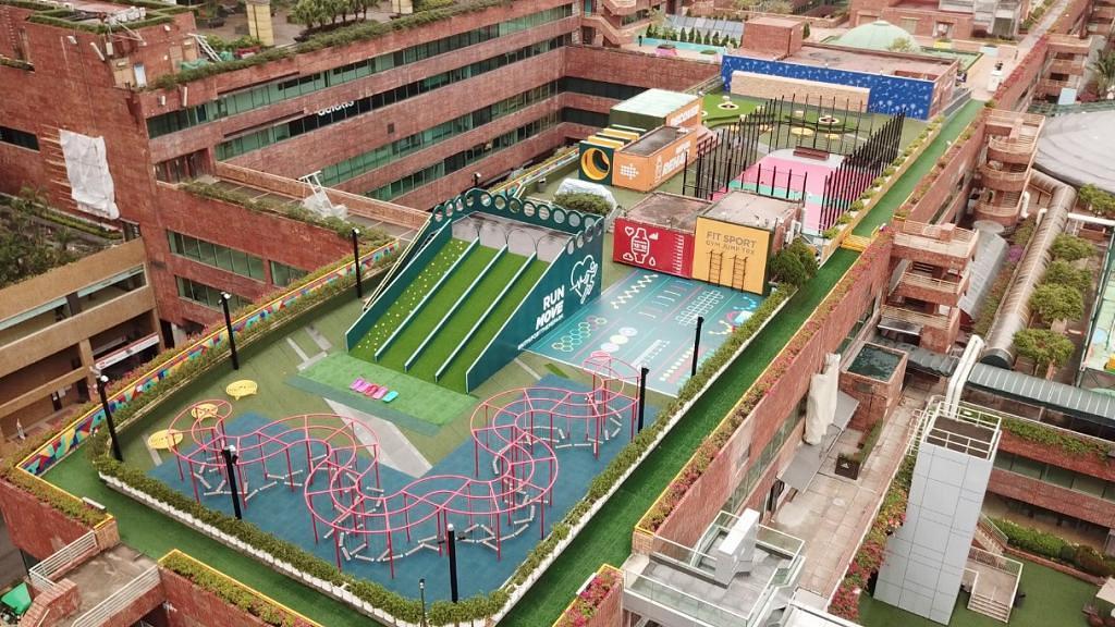 【沙田好去處】3萬5千呎草地空中運動公園重開!7大園區/5米高滑草梯/大型攀石牆