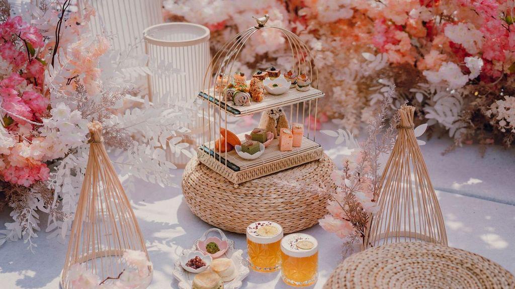 【旺角美食】Morokok露天花園全新夢幻日系櫻花主題 歎勻兩層架下午茶+日本和服體驗!
