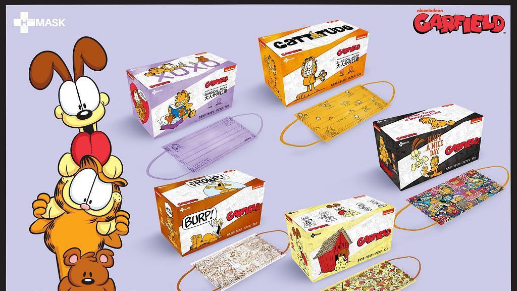 【香港口罩】Garfield加菲貓口罩登場!5款彩色印花口罩限量開賣 (附購買連結)