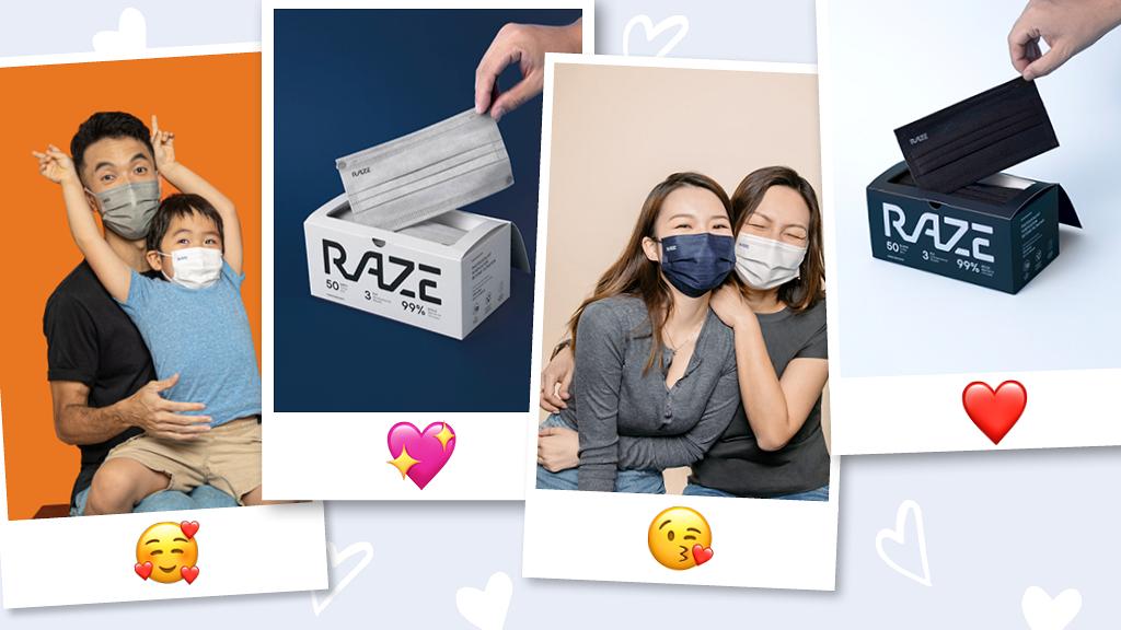 RAZE至型四色選擇!光觸媒技術 抗菌+滅活雙重保護