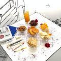 【灣仔美食】灣仔手繪壁畫純白Café為學生免費開放 送蜜桃紅茶+任選6款小食