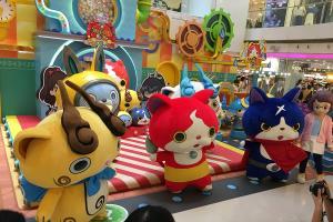 銅鑼灣妖怪手錶展覽 試玩放大版噗尼噗尼遊戲