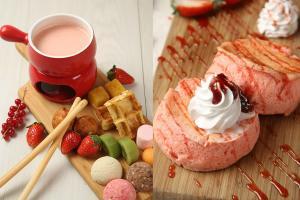 沙田酒店$118下午茶自助餐 任食士多啤梨+櫻花主題甜品