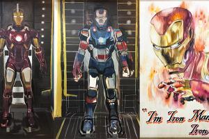 【尖沙咀新店】Marvel漫畫展館6呎高IronMan插畫!